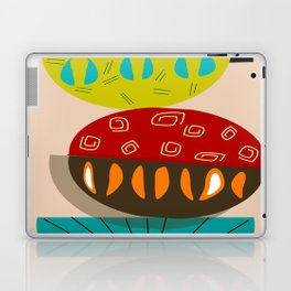 Mid-Century Modern Abstract Half Moons Laptop & iPad Skin