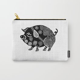 Zentangle Pig Carry-All Pouch