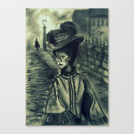 Whitechapel by Gaslight (First Version) Canvas Print