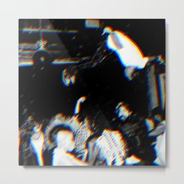 Playboi Carti - Die Lit (Split Color Glitch Effect) Metal Print