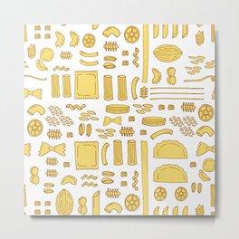 Pasta, a pattern. Metal Print