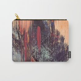 Night and Day: pretty abstract piece in orange, purple, and blues Carry-All Pouch