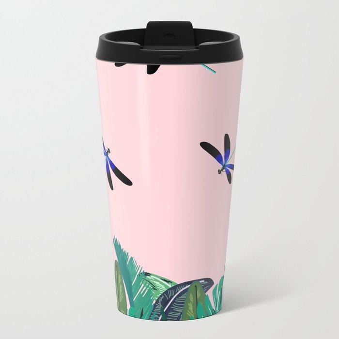 Sunny Day - Dragon-fly Metal Travel Mug