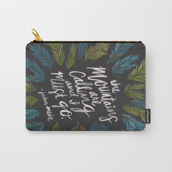 Mountains Calling – Charcoal Carry-All Pouch