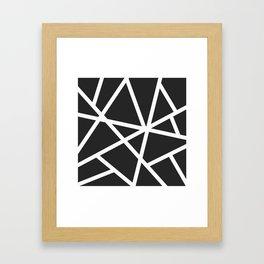 Black Earthquake Framed Art Print