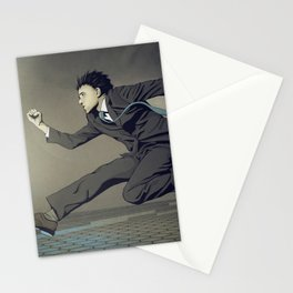 Running Man Stationery Cards