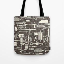 fiendish incisions dark Tote Bag