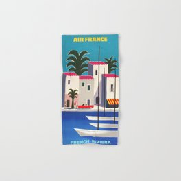 Vintage poster - French Riviera Hand & Bath Towel
