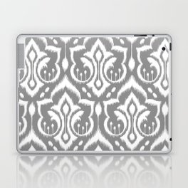 Ikat Damask Gray Laptop & iPad Skin