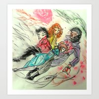 superwholock Art Prints featuring Death and All Her Resting Lovers by Christine Eglantine