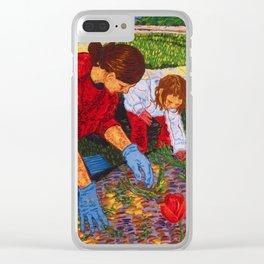 Tending the Garden Clear iPhone Case