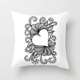Heart Doodle 1407 Throw Pillow