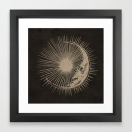 The Man in the Moon  Framed Art Print