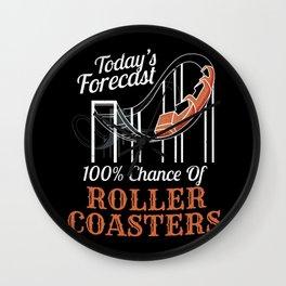 Roller Coaster Ride Fan Adrenaline Junkies Forecast Wall Clock
