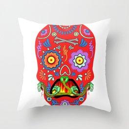 Colorfull Skull Throw Pillow