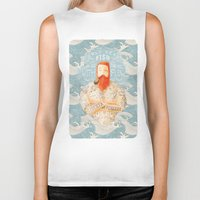 clockwork orange Biker Tanks featuring Sailor by Seaside Spirit