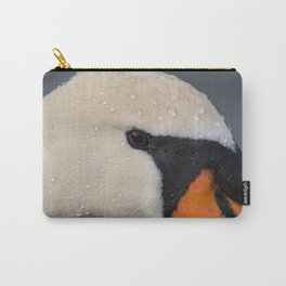 Mute Swan in Winter - CloseUp Carry-All Pouch