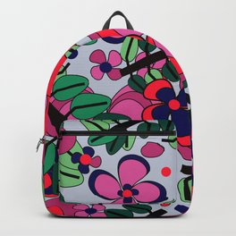 Gardenias Party on Gray Backpack