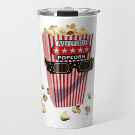 Buttered Popcorn and 3D Movie glasses Travel Mug