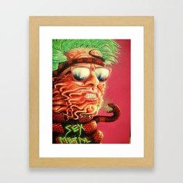 Sexmetal Framed Art Print