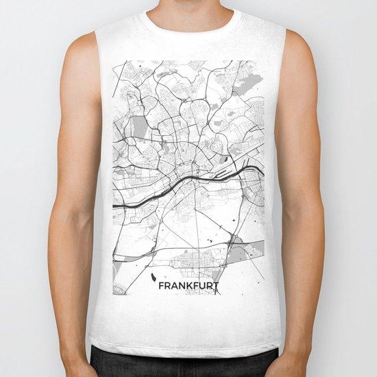 Frankfurt City Map Gray Biker Tank