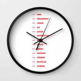 Beard measuring stick for real men funny gift Wall Clock