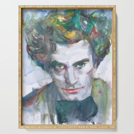 EDGARD VARESE watercolor portrait.1 Serving Tray