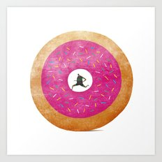 The Fast (Food) Runner! Art Print