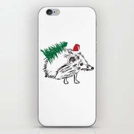 Santa  Hedgehog iPhone Skin
