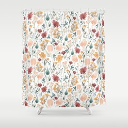 Deep Florals Shower Curtain