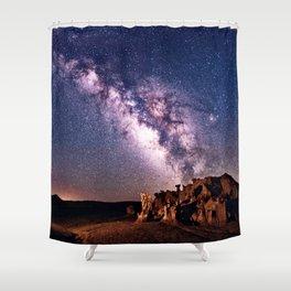 Bisti Badlands Night Sky Shower Curtain