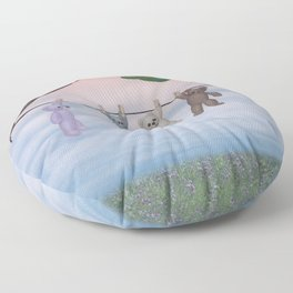 meadow fresh teddy bears Floor Pillow