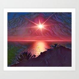 Lake Toba Art Print