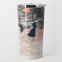 Sweet tooth [7]: a colorful abstract mixed media piece in pink, blues, and white Travel Mug