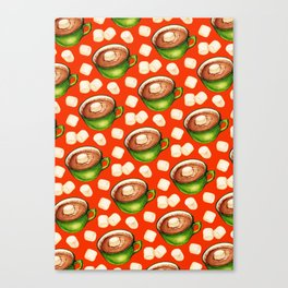 Hot Cocoa Pattern Canvas Print
