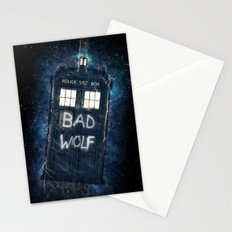 Bad Wolf TARDIS Stationery Cards