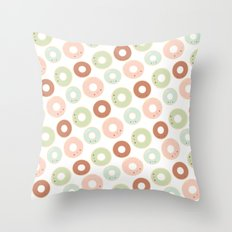 Donuts for breakfast! Throw Pillow