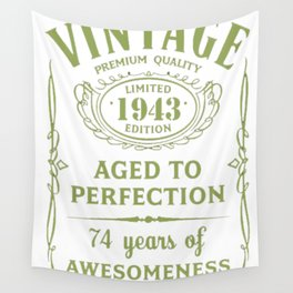 Green-Vintage-Limited-1943-Edition---74th-Birthday-Gift Wall Tapestry