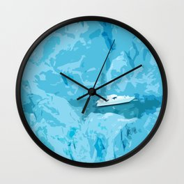 Icy Voyage Wall Clock