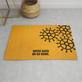 Lab No.4 -Work Hard Or Go Home Corporate Startup Quotes poster Rug