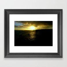 Sun setting over the Great Southern Ocean Framed Art Print