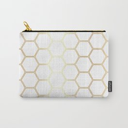 Geometric Honeycomb Pattern - Gold #170 Carry-All Pouch