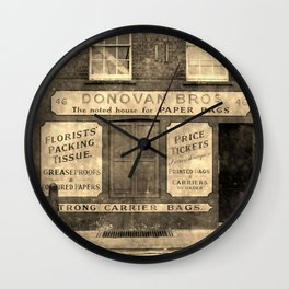 Paper Bags - Street view in London Wall Clock