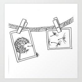 Dandelion in photos Art Print