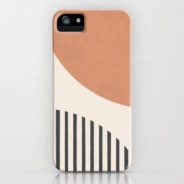 Semicircle Stripes - Terracotta iPhone Case