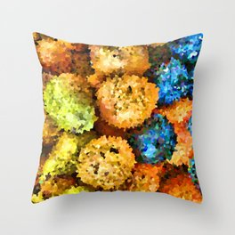 crystallized fruits Throw Pillow