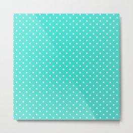 Dots (White/Turquoise) Metal Print