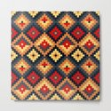 Aztec pattern-red, brown, nude, blue by triballer