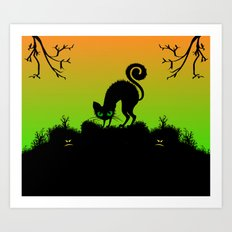 Cat Silhouette Art Print