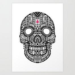 Symmetric Skull Art Print